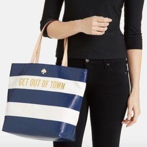 Kate Spade 'get out of town- bon' shopper